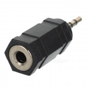 2.5mm macho a 3.5mm hembra adaptador convertidor - Negro
