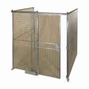 AK Quik-Fence Security Room - 8ft.W x 8ft.D x 8ft.H, 3-Sided, Model ALQWK888-3