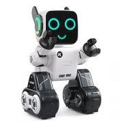 Smart Robot, Oldeagle JJRC R4 Cady Wile RC Robot 2.4G Intelligent Sound Interaction Gesture Sensor Control RC Robots Gift Kids Toy (White)