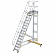 Günzburger Steigtechnik Günzburger Plattformtreppe fahrbar 60° Stufenbreite 600mm 15 Stufen