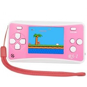 Qingshe Retro Handheld Game Console For Kids,Classic Arcade Video Gaming System Playstation, 2.5 Lcd Portable Player With The 90'S 152 Classic Old Games,Best Birthday Boys Girls-Pink