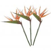 Mica Decorations 3x Oranje strelitzia/paradijsvogelbloem kunstbloemen 90 cm