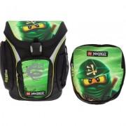 Ghiozdan scoala Explorer + sac sport Core Line NinjaGo Lloyd verde LEGO