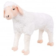 vidaXL Standing Plush Toy Sheep White XXL