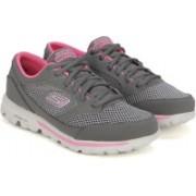 Skechers GO WALK-VERVE Walking Shoes(Grey, Pink)