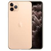 "Telefon Mobil Apple iPhone 11 Pro Max, OLED Multi‑Touch 6.5"", 64GB Flash, Camera Tripla 12MP, Wi-Fi, 4G, iOS (Auriu) + Cartela SIM Orange PrePay, 6 euro credit, 6 GB internet 4G, 2,000 minute nationale si internationale fix sau SMS nationale din care 300"