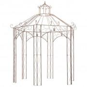 vidaXL Pavillon de jardin Marron antique 3 m Fer