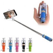 Mini Selfie Sticks with Aux Cable 55 cm (Multicolor)