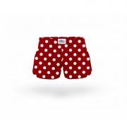ELKA Underwear Dětské trenky ELKA bordó s puntíky (B0006) 140