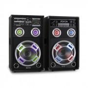 Skytec KA-10 aktivt karaoke-PA-högtalar-set 800W