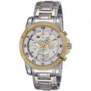Seiko Round Dial Multicolor Stainless Steel Strap Chronograph Watch for Men - SPC162P1
