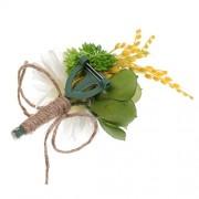 ELECTROPRIME® Wedding Bride Groom Dress Tuxedo Daisy Corsage Brooch Flower Boutonniere