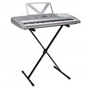 vidaXL Zestaw Keyboard elektryczny 61 klawiszy+statyw na nuty+statyw