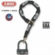 ABUS Antivol U + chaine ABUS 58HB3+12KS80L