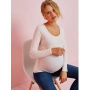 VERTBAUDET Camisola de mangas compridas, para grávida rosa medio liso