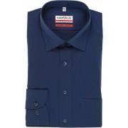 Marvelis Modern Fit Hemd dunkelblau, Einfarbig
