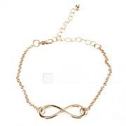 Dames Bedelarmbanden Vintage Armbanden Inspirerend Eenvoudige Stijl Synthetische Edelstenen Legering Oneindigheid Sieraden Voor Dagelijks