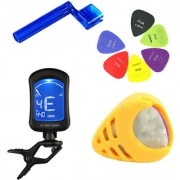 Futaba 4 in 1 Guitar Tuner + String Winder +Picks +Guitar Picks Holder