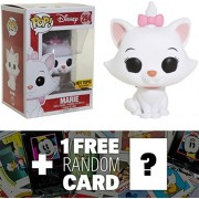 Marie [Flocked] (Hot Topic Exclusive): Funko POP! Disney x The Aristocats Vinyl Figure + 1 FREE Classic Disney Trading Card Bundle (14807)
