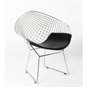 Replica Harry Bertoia Diamond Chair - chrome - various colour cushions
