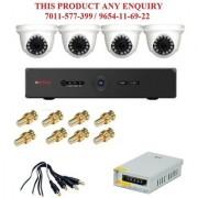 CP PLUS 1.3 MP 4CH DVR 1pcs 4pcs Dome Camera 1pcs 1pcs Power Supply 8pcs BNC 4pcs DC Surveillance Kit