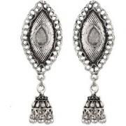GoldNera Antique Silver Jhumki 5 CM Long Earrings Daily Wear Collage Wear Jhumka Long Zunki Good Finishing Afgani Copper