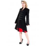manteau pour femmes printemps-automne HEARTS AND ROSES - Réincarnation Noire - 0714