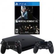 Конзола PlayStation 4 Slim 500GB Black, Sony PS4+Игра Mortal Kombat XL PS4+Геймпад - Sony PlayStation DualShock 4 Wireless