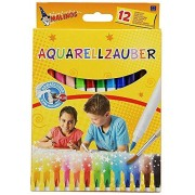 Malinos 12 Piece Aquarell Watercolor Magic Color Pen (Easy to Remove from Skin Paint) 300033 - Made in Germany
