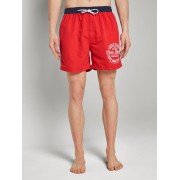 TOM TAILOR Zwembroek met contrasterende tailleband, poppy red, XL