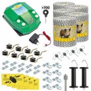 Pachet gard electric complet 5000 m, 7,2 Joule, 230 V, pentru animale sălbatice