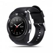 Ceas smartwatch V8 functie telefon, sim, bluetooth, camera foto, anti lost, Facebook,Whatsapp, negru