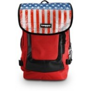Tagger Urban Electro Stars & Stripes Bsly_bbrd (Red) Top Loaded Ultimate 21 L Laptop Backpack(Red)