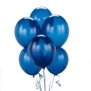 Tiger 50016 Metallic Plain Large Balloon Blue (Pack of 50)