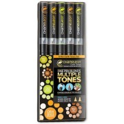 Set markere 5 culori Earth Tones Chameleon