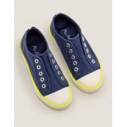 Mini Chaussures sans lacets en toile NAV Garçon Boden, Navy - 34