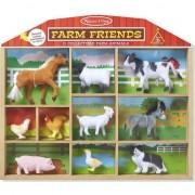 Prieteni de la ferma - Un set de 10 de figurine de animale domestice