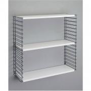 Tomado Retro boekenrek - 68 x 70 x 21 cm - zwart/wit