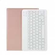 Wireless Bluetooth Keyboard Leather Stand Case for iPad Pro 11-inch (2020)/Pro 11-inch (2018) - Rose Gold