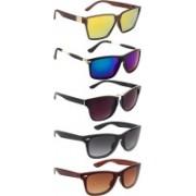 NuVew Rectangular, Wayfarer Sunglasses(Black, Blue, Brown, Grey, Golden, Green, Violet)