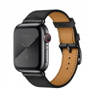 Часы Apple Watch Hermès Series 5 GPS + Cellular 40mm Black Stainless Steel Case with Single Tour (Noir)