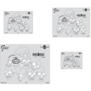 Artool Freehand Airbrush Templates, Boneheadz Template Set - Eight8Dead