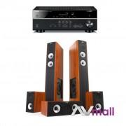 Pachet Receiver AV Yamaha RX-V483 + Sistem de Boxe Jamo S 626 HCS