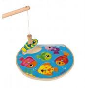 JANOD Puzzle z magnesami Szybkie rybki z wędką - rybki magnetyczne do łowienia dla dzieci 18m+,