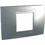UNICA ALLEGRO Rama 2 modul Orizontala IP20 Argint mat MGU4.102.60 - Schneider Electric