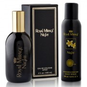 Royal Mirage Eau De Cologne Spray Night 120ml + Royal Mirage Body Spray Night 200ml