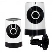 Camara panoramica WiFi de 185 pies y 1.0MP con seguridad domestica (enchufe para el Reino Unido)