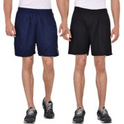 Pack of 2 Knee Length Shorts (Black and Navy Blue)