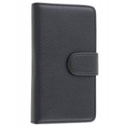 Synthetic Leather Wallet Case with Stand for Nokia Lumia 810 - Nokia Leather Wallet Case (Classic Black)