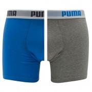 Boxershorts Basic 2-pack Blauw & Grijs